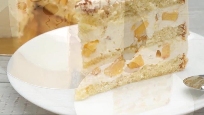 Все кто пробовал этот торт просят рецепт 🍰🍰🍰 Обалденный Торт с Персиками
