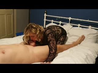 Slut wife sucking hard for cum (amateur, big dick, blonde, blowjob, porn, milf, cum, swallow, домашнее, минет, жена, шлюха)