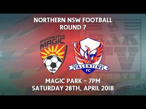 2018 NNSWF NPL Round 7 - Broadmeadow Magic v Valentine Phoenix FC