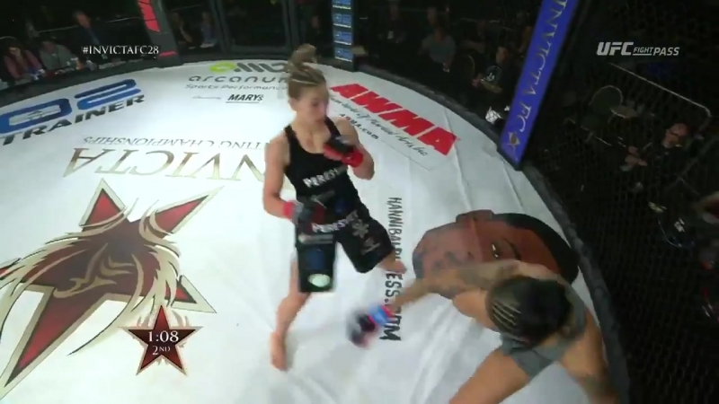 InvictaFC28 Results: Milana Dudieva def. Christina Marks by TKO (punches). Round 2, 3:57