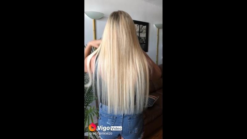 Наращивание волос 100 капсул