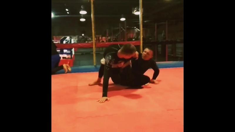 Иманари ролл от Алексея Жигачева, во время тренировочной схватки.