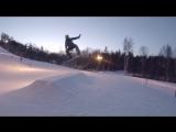 SNOWBOARD my first trick GRAB