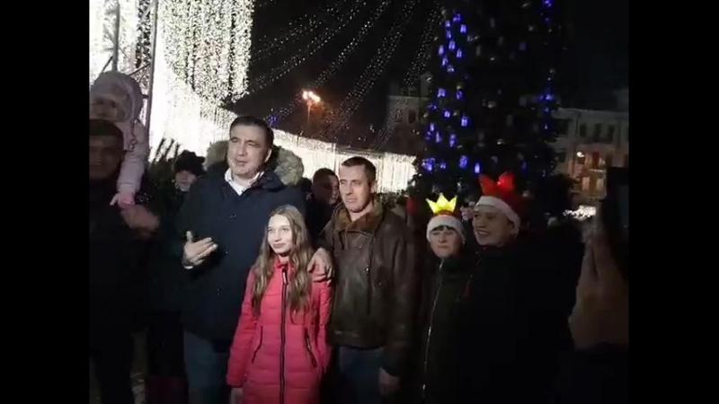 Новый 2018 год г Киев Софиевская площадь