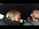 Баба пилит мужика за рулем))