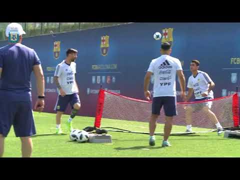 Rusia 2018: Mañana de entrenamiento en la Ciutat Esportiva Joan Gamper