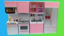 ОБЗОР кухни для кукол. Кухня для Барби
