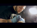 Tattooist at work