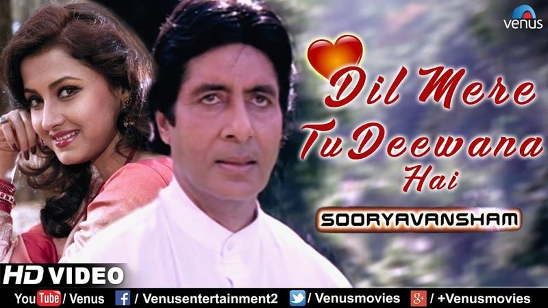 Dil Mere Tu Deewana Hai   Sooryavansham   Amitabh Rachana Banerjee   90's Romantic Bollywood Song