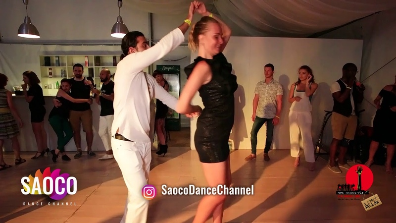 Tomas Munur Tenekeci and Elena Akolzina Salsa Dancing in Malibu at The Third Front, Sun 05.08.2018