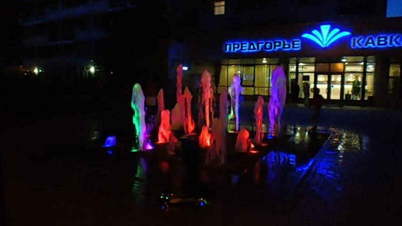 фонтаны вечером