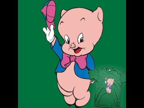 Поросенок Порки ч 1 Porky pig р 1 Amigurumi Crochet Амигуруми Игрушки крючком