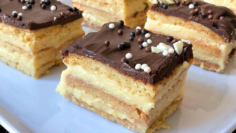Tarta de la abuela con galletas María caseras. Trucos y consejos