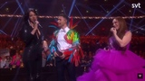 Dana International answers at Eric Saades question about Eurovision ( Melodifestivalen 2019 )
