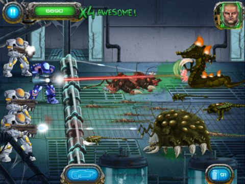 Скачать  Soldier vs Aliens для android