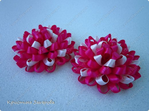 Цветы из узкой ленты своими руками