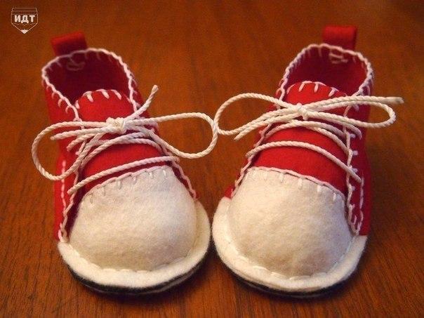 Фетровые кеды для малыша (9 фото) - картинка