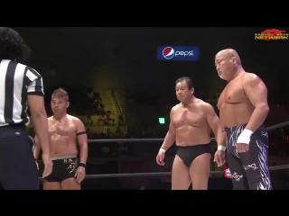 Yoshiaki Fujiwara, Don Fujii, Punch Tominaga vs. Masaaki Mochizuki, Tatsumi Fujinami, Hiro Saito (Dragon Gate - Kobe Pro-Wrestli
