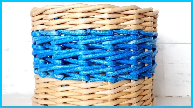 Японское послойное плетение один из вариантов МК узора из газет
