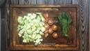 Обед • Креветки на подушке из цветной капусты
