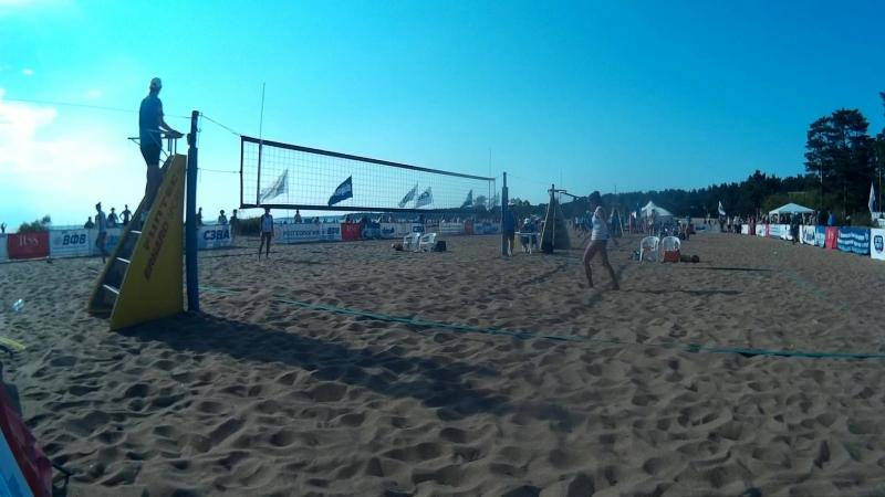 Beach volley Russia Solnechnoe 2018 W 09 Rudykh-Zayonchkovskaya and Moiseeva-Syrtseva