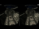 Virtual Reality. Galaxy Roller Coaster 3D VR SBS