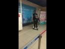 Выставка роботов пробный первый заезд на гидроскутере