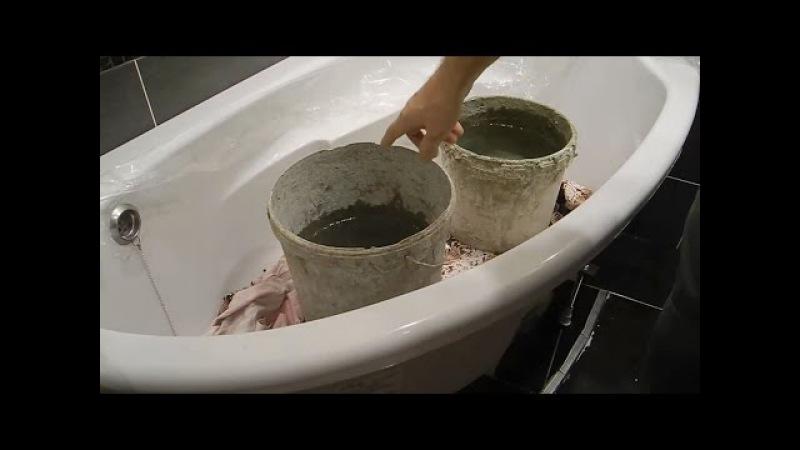 Как установить надежно,акриловую ванну ч.3