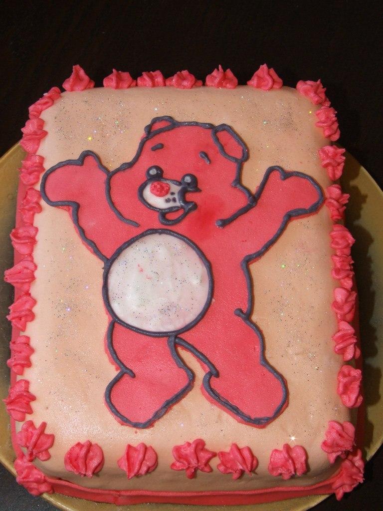 """торт с медвежонком """"заботливые мишки"""""""