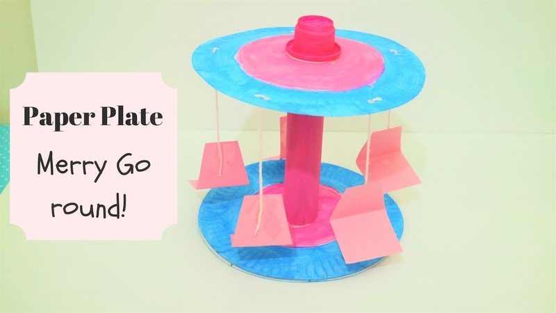 Easy Paper Plate Craft for preschoolers- Merry Go Round