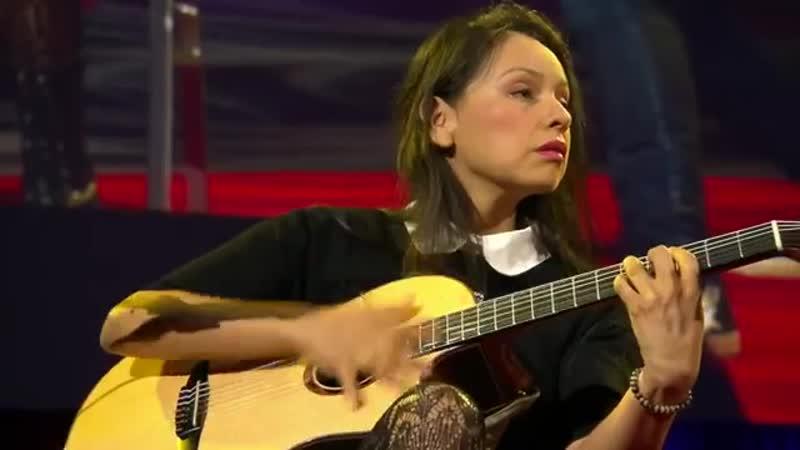 An electrifying acoustic guitar performance. Rodrigo y Gabriela