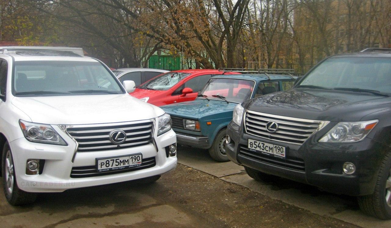Найдите отличия: Lexus LX 570 2012 vs Lexus LX 570 2010