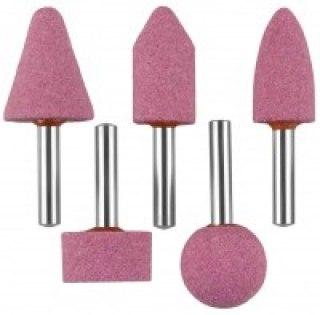 Набор : Насадки шлифовальные абразивные с оправкой, оксид алюминия, 6шт   STAYER