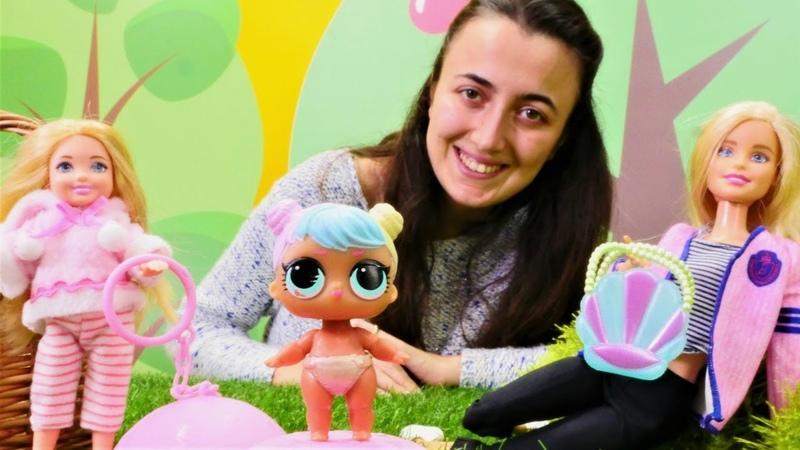 Sevcan ve Barbie oyunları. Chelsea Lol bebek açıyor