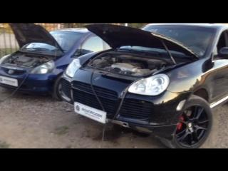 Очистка Honda Fit и Porsche Cayenne