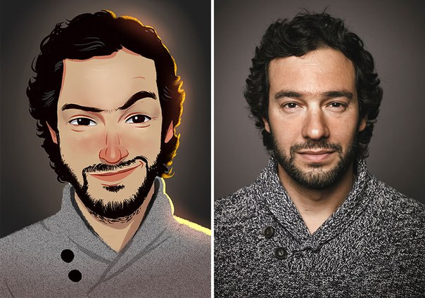 Художник превращает фотографии случайных людей в забавные иллюстрации Бразильский художник Хулио Сезар создал забавную серию цифровых иллюстраций, основанных на фотографиях случайных людей. Его