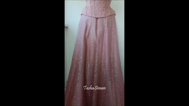 Корсетное платье из гриттера