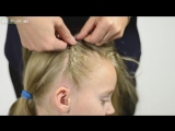 ONE-SIDED FRENCH braid Criss Cross. Quick and Easy hairstyle for little princess #47
