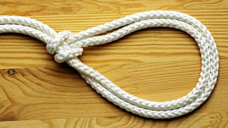 Затягивающийся узел скользящая глухая петля