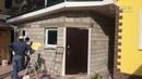 Утепление стен гаража частного дома в Самарской области