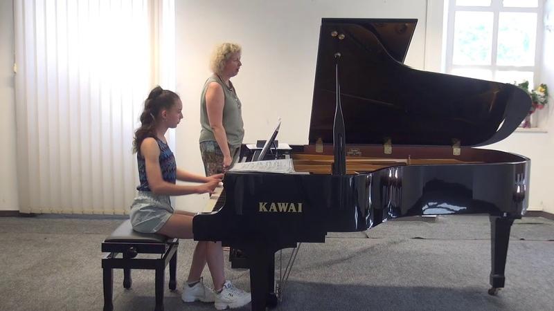 06.07.2018 Mira Marchenko's master-classes. Sophia Khvichiya. Concert Hall, Trogir, Croatia