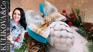 Сувенир новогодняя шишка DIY от Yuliana M
