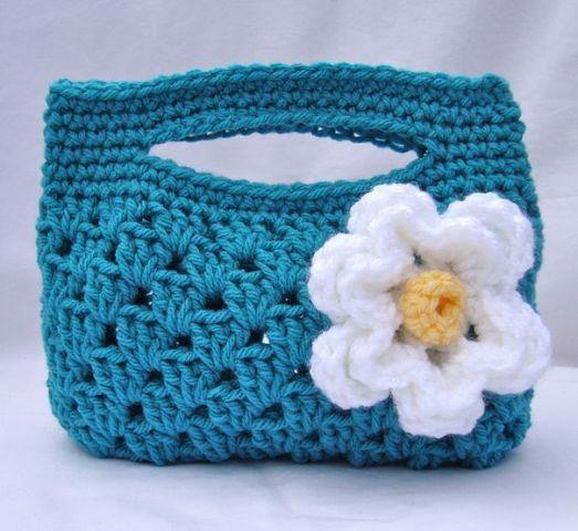 Сумочка для девочки вязание крючком (1 фото) - картинка