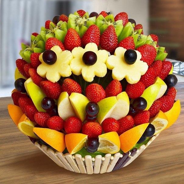 Цветок из фрукта своими руками