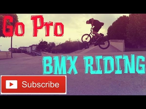 BMX RIDING IN LOCAL SKATEPARK