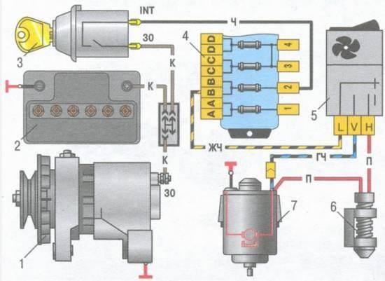 проводка на ваз 2109 схема