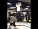 Чисто тренерская тусовка. Мансур Учакаев работает на лапах . Video by Зелим Имадаев