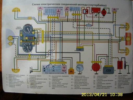 Электронная схема проводки на