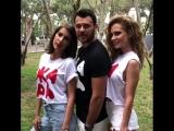 ГлюкoZa, Emin и Кети Топурия на съёмках обложки журнала OK! (июль 2018 года)