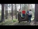 Переправа в плащ-палатке